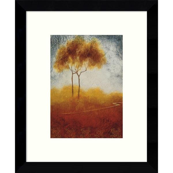 Susan Osbjorn 'Distant View I (Landscape)' 9 x 11-inch Framed Art Print