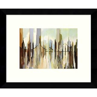 Gregory Lang 'Skyscraper City' 11 x 9-inch Framed Art Print
