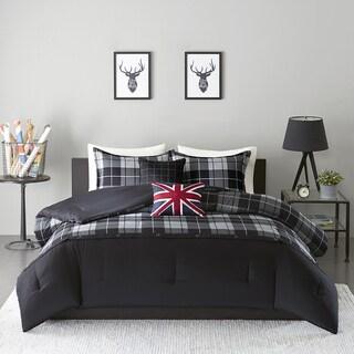 Intelligent Design Hunter Black/ Grey 5-piece Comforter Set