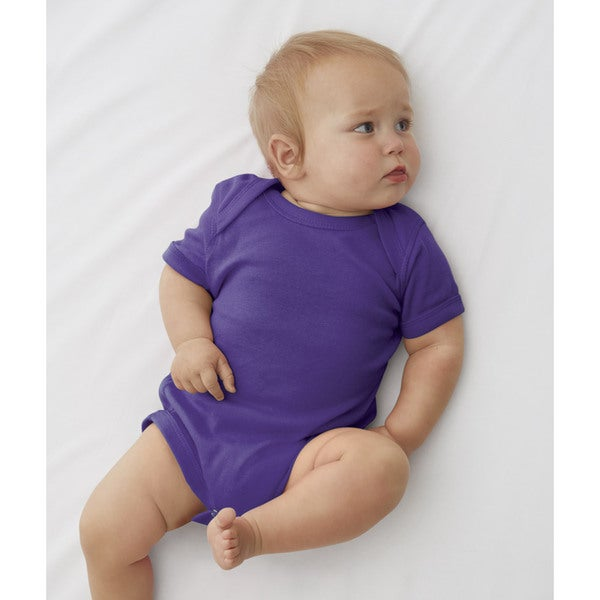 Infant Rabbit Skins Purple Baby Rib Lap Shoulder Bodysuit