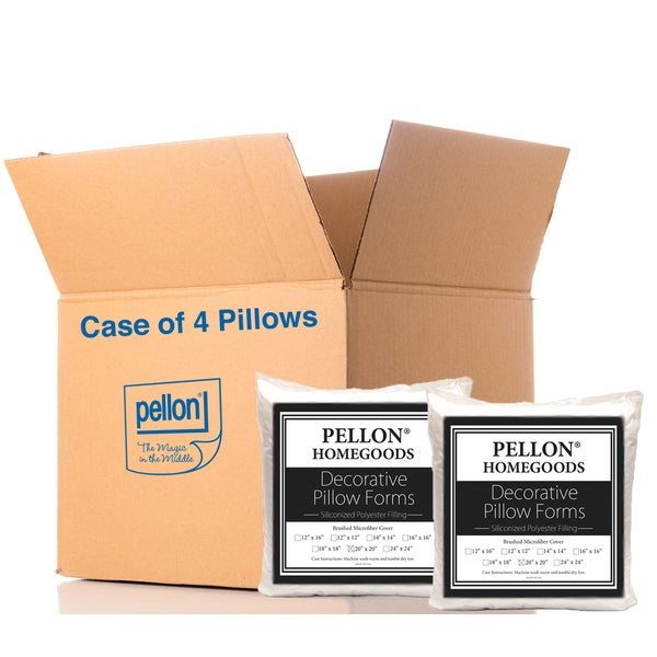 Pellon PPI Microfiber/Polyester 20-inch x 20-inch Decorative Shell Pillow Forms (Pack of 4)