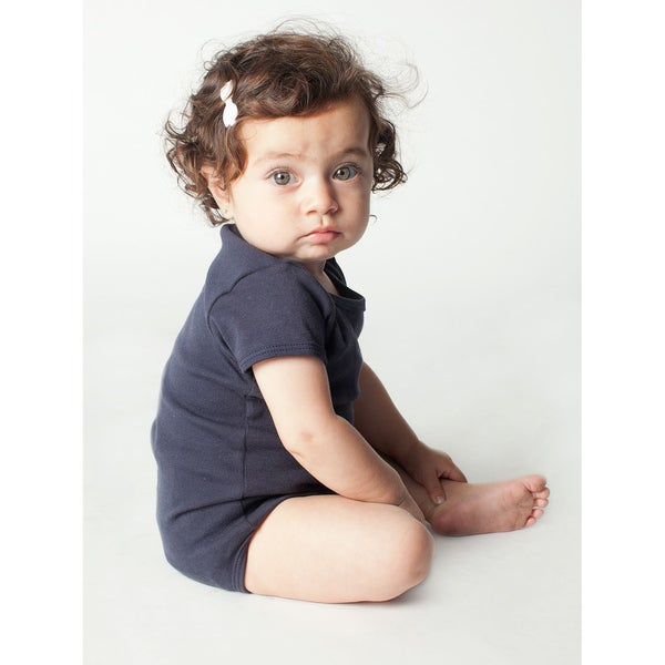 American Apparel Infant Navy Rib Short-sleeved Bodysuit