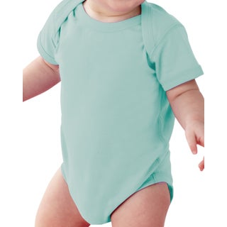 Rabbit Skins Chill Green Cotton and Polyester Fine Jersey Lap Shoulder Infant Bodysuit