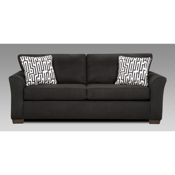 Cadie Black Contemporary Sofa