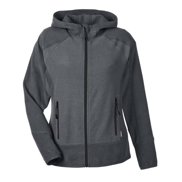 Vortex Women's 456 Polartec Carbon/Black Polyester Active Fleece Jacket