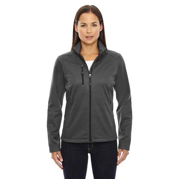 Trace Women's Grey Polyester Printed Fleece Jacket
