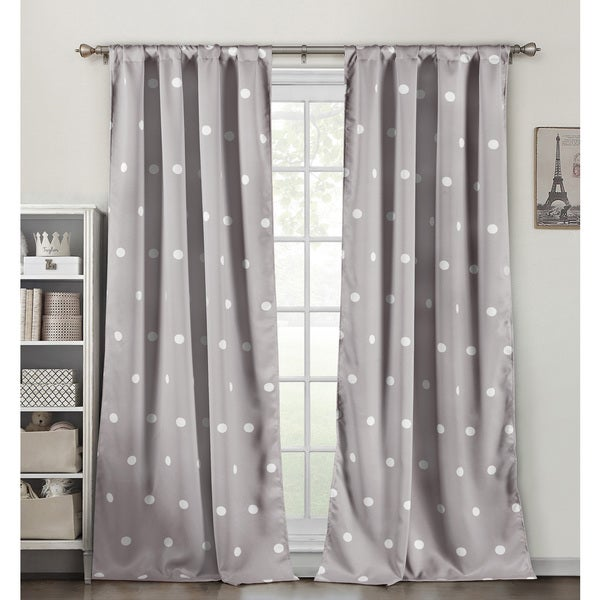 Duck River Dot Multicolor Polyester Heavy Blackout Pole-top Curtain Panel Pair