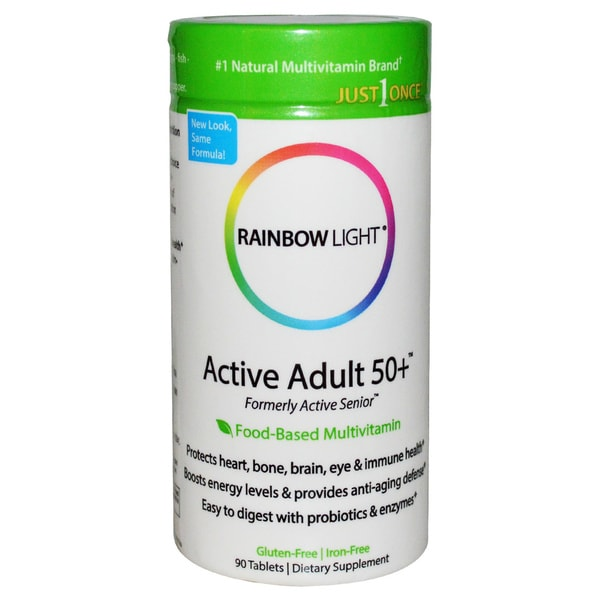 Rainbow Light Active Adult 50+ Multivitamin (90 Tablets)