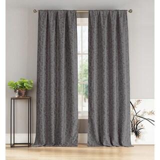 Duck River Floral Blackout Pole-top Curtain Panel Pair