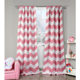 Duck River Polyester Chevron Heavy Blackout Pole-top Curtain Panel Pair