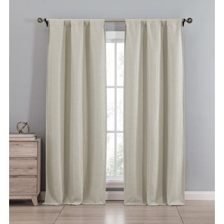Duck River Solid-color Polyester Blackout Pole-top Curtain Panel Pair
