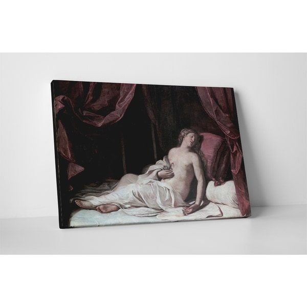 Classic Masters Guercino 'Death of Cleopatra' Gallery Wrapped Canvas Wall Art