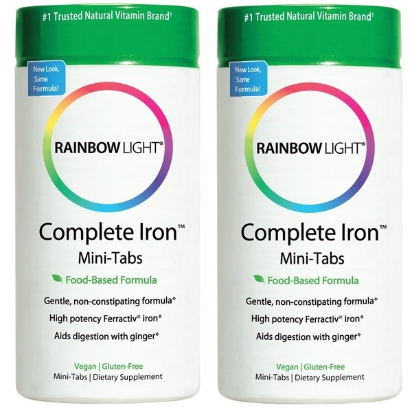 Rainbow Light Complete Iron Mini-tabs (60 Tablets)