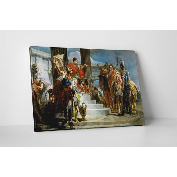 Giovanni Battista Tiepolo 'Alexander The Great and Campaspe In The Studio' Gallery-wrapped Canvas Wall Art