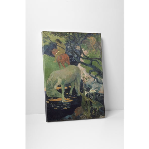 Classic Masters Paul Gauguin 'The White Horse' Gallery Wrapped Canvas Wall Art