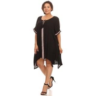 Hadari Woman's plus size boho chic dress