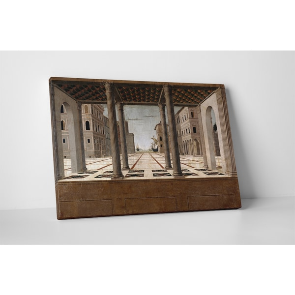 Francesco di Giorgio Martini 'Architectural Veduta' Gallery-wrapped Canvas Wall Art