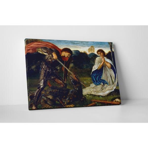 Classic Masters Edward Burne-Jones 'St. George Kills the Dragon VI' Gallery Wrapped Canvas Wall Art