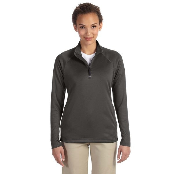 Stretch Women's Tech-shell Compass Dark Grey Heather Quarter-zip Shirt