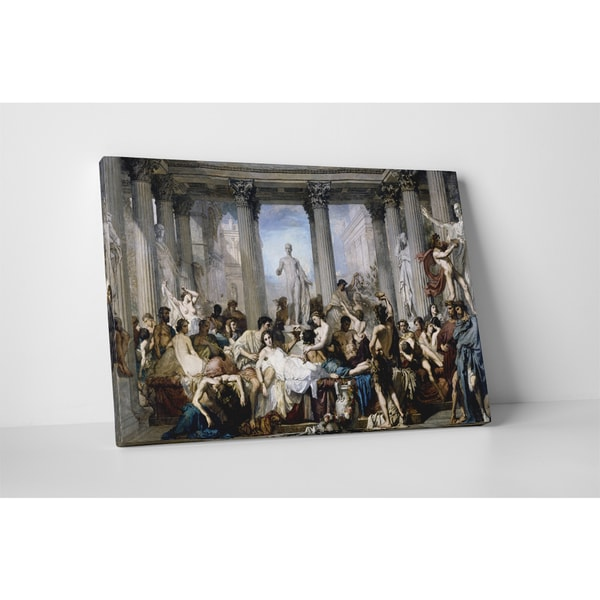 Classic Masters Thomas Couture 'Romans During the Decadence' Gallery Wrapped Canvas Wall Art