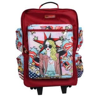 Nicole Lee Kailey Pop Girl 21-inch Rolling Carry-on Fashion Upright Suitcase