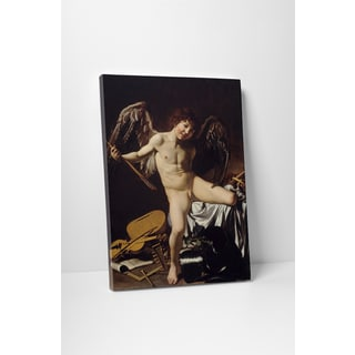 Classic Masters Caravaggio 'Love Conquers All' Gallery Wrapped Canvas Wall Art