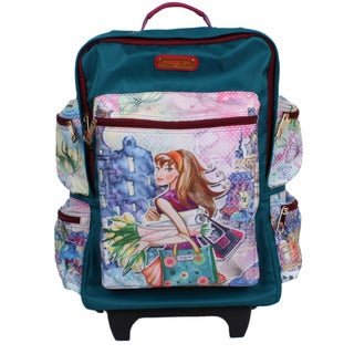Nicole Lee Kailey Tulip Girl 21-inch Rolling Carry-on Fashion Upright Suitcase