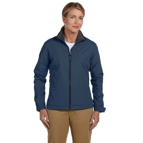 Three-Season Women's Classic Navy Nylon Jacket