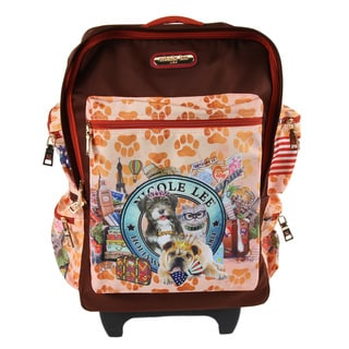 Nicole Lee Kailey World Tour 21-inch Rolling Carry On Fashion Upright Suitcase