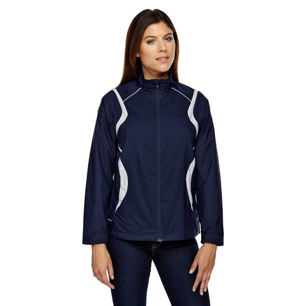 Venture Women's Blue Polyester Lightweight Mini Ottoman Jacket