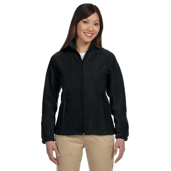 8-Ounce Women's Black Full-Zip Fleece Jacket
