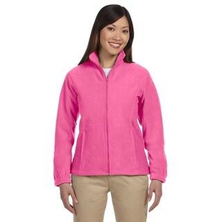 8-Ounce Women's Charity Pink Full-Zip Fleece Jacket