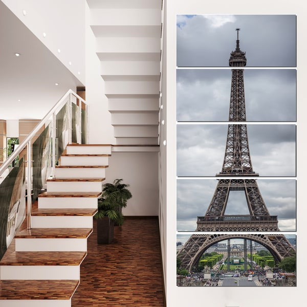 Grayscale Eiffel Tower - Cityscape Photography Canvas Print