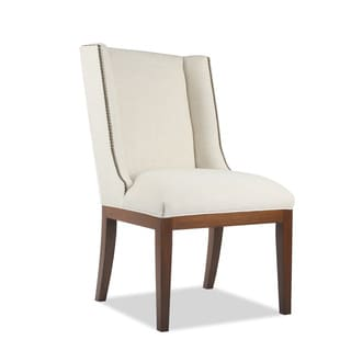 Marina Linen Dining Chair With Nailheads