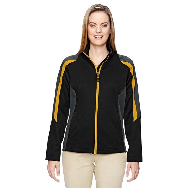 Strike Women's 464 Black/Gold Polyester Colorblock Fleece Jacket