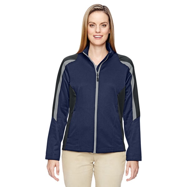 Strike Women's 849 Classic Navy Fleece Colorblock Jacket