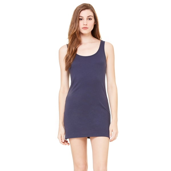 Women's Navy Cotton Jersey Tank Dress