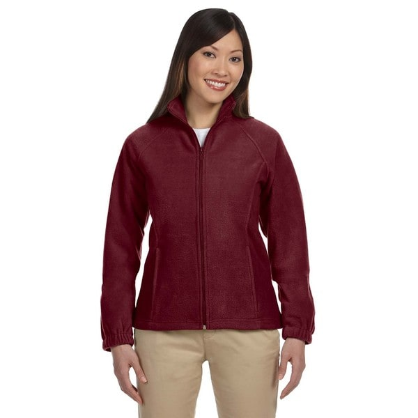 8-Ounce Women's Wine Full-Zip Fleece Jacket