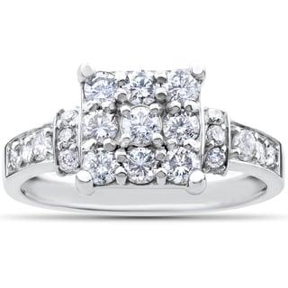 10k White Gold 1ct TDW Diamond Engagement Ring (I-J, I2-I3)