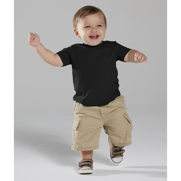 Black Cotton 4.5-ounce Infant Fine Jersey T-shirt