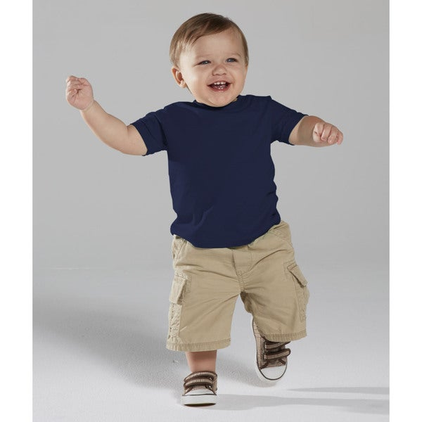 Infants' Navy Fine Cotton Jersey T-shirt