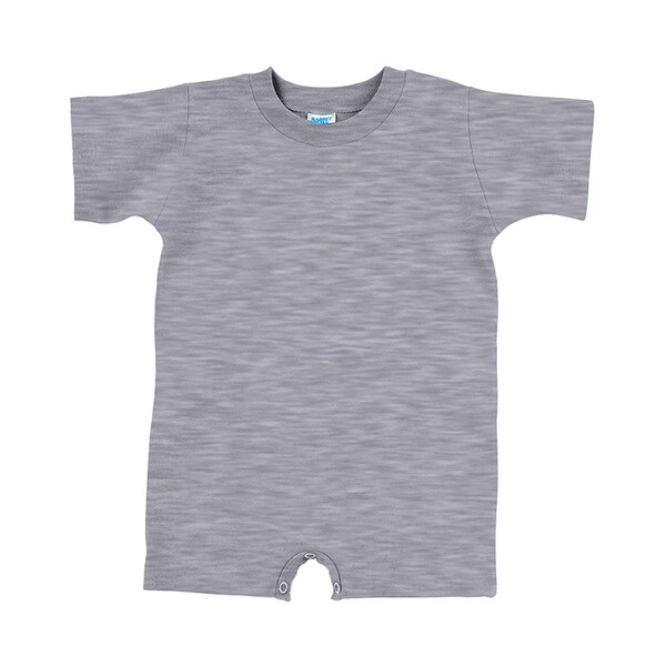 Infant 5.5-ounce Heather Grey Cotton T-shirt Romper
