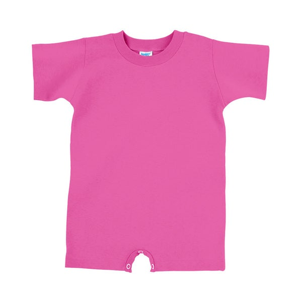Infants Raspberry Cotton Jersey T-shirt Romper