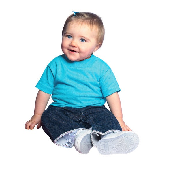 Infants Aqua Cotton Jersey Short-sleeve T-shirt