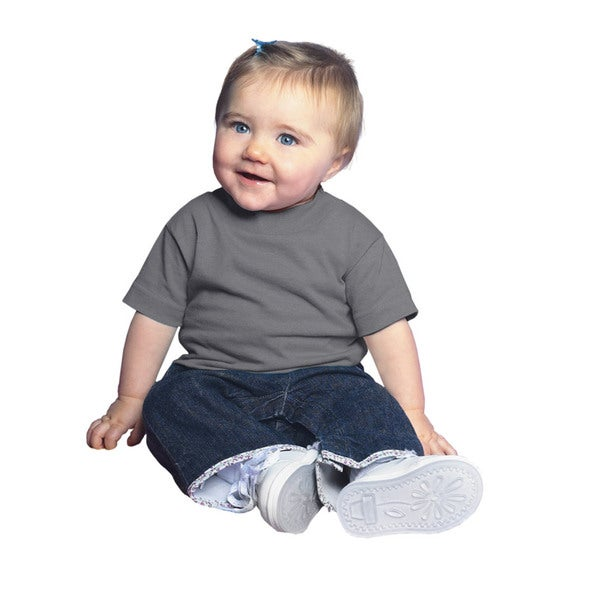 Infants' Charcoal Cotton Jersey Short-sleeved T-shirt