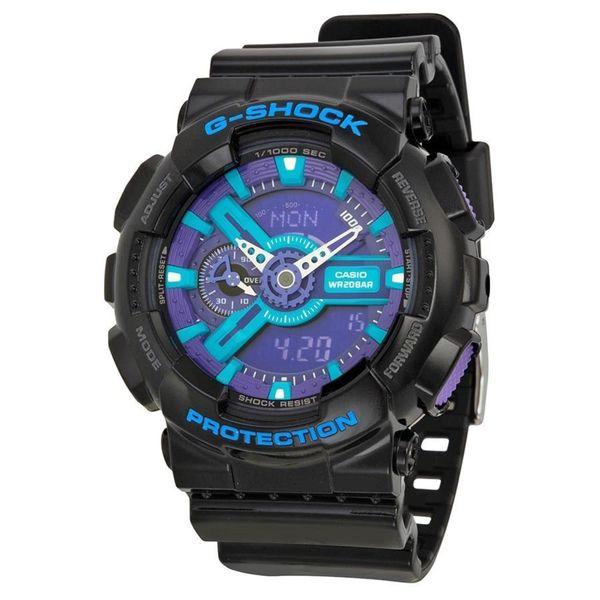 Casio Men's GA-110HC-1ACR 'G-Shock' Analog-Digital Black Resin Watch