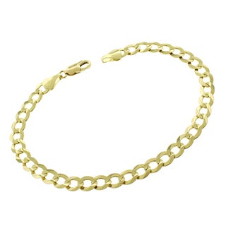 10k Yellow Gold 5.5mm Solid Cuban Curb Link 8-inch Bracelet Chain