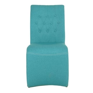 Sandra Turquoise Fabric Dining Chair (Set of 2)