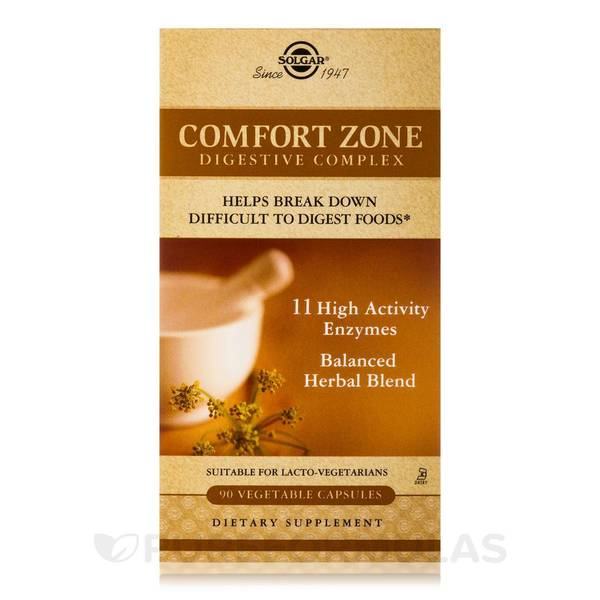 Solgar Comfort Zone Digestive Complex (90 Vegetable Capsules)