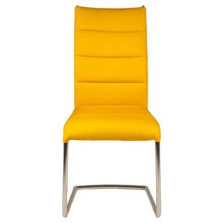Nardo Yellow Fabric/Metal Dining Chairs (Set of 2)
